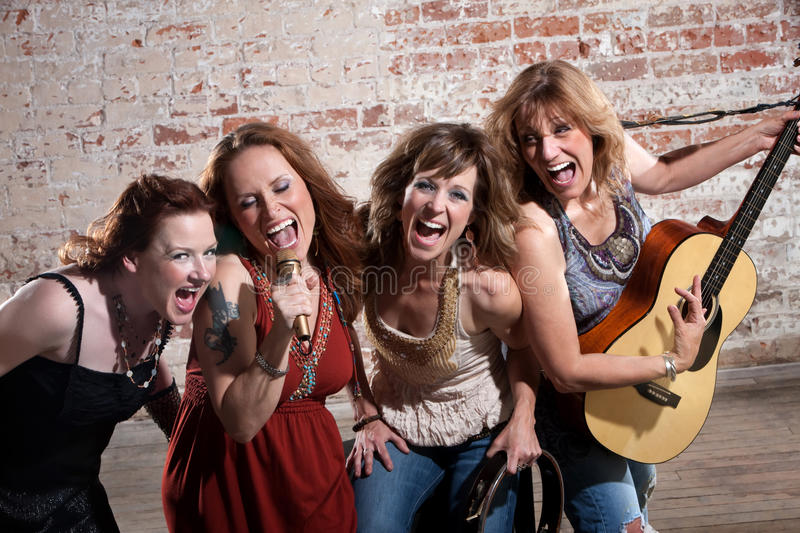 Download Female musicians stock image. Image of contemporary, happy - 14857521