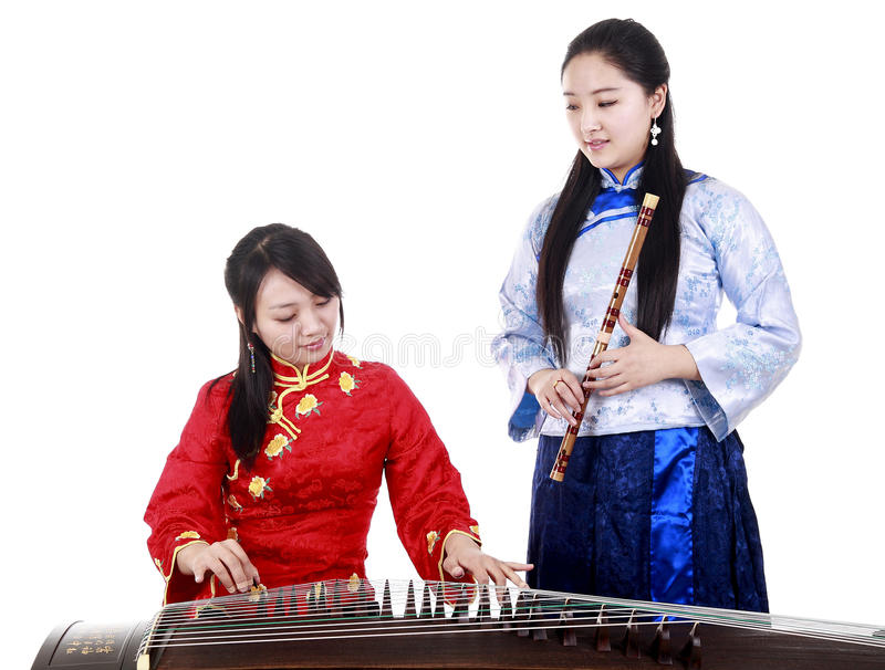Female musicians royalty free stock images