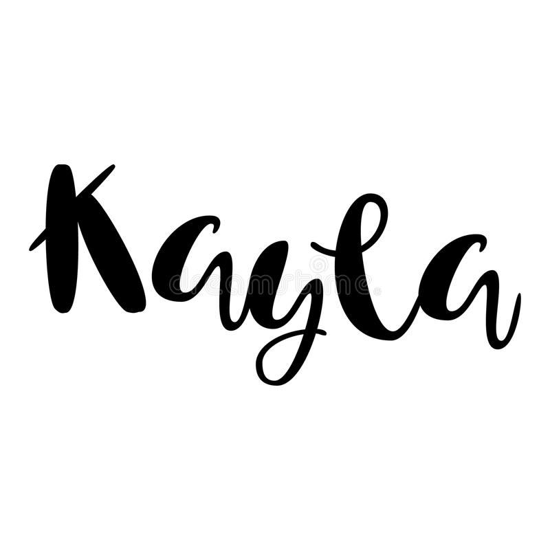 female name kayla lettering design handwritten