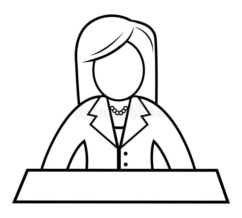 female news anchor royalty free illustration