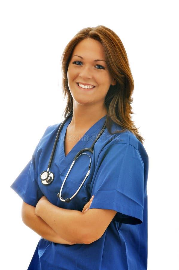 Female Nurse with Stethoscope
