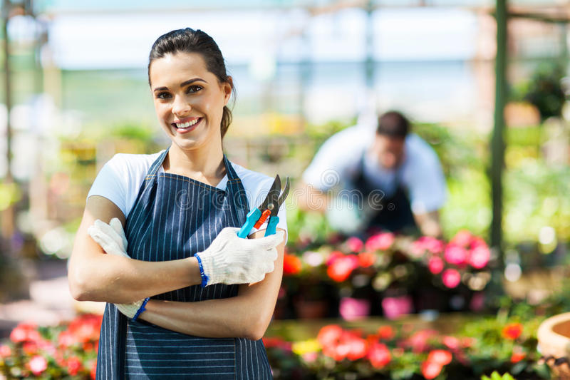 Female Nursery Worker Royalty Free Stock Photo