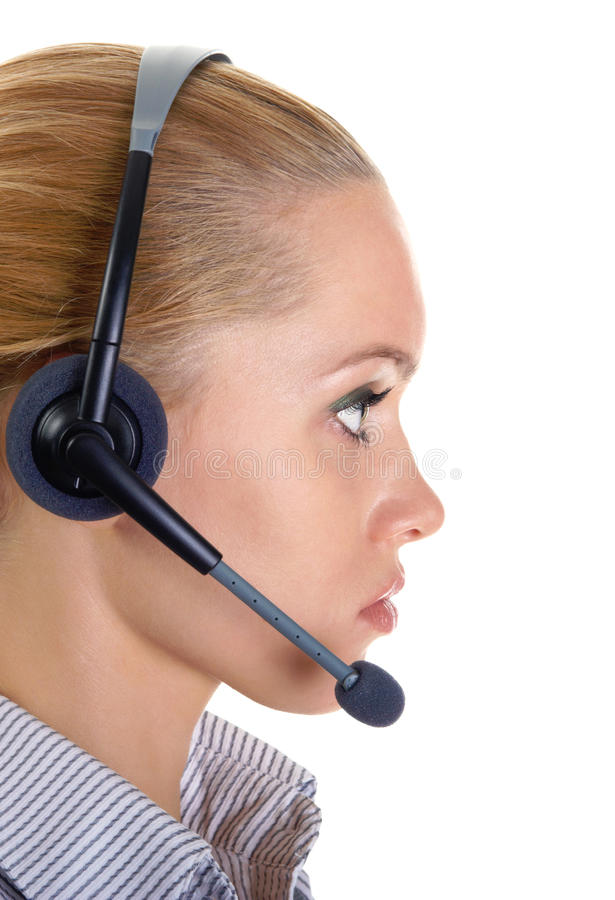 Download Female office worker stock image. Image of support, call - 13860343