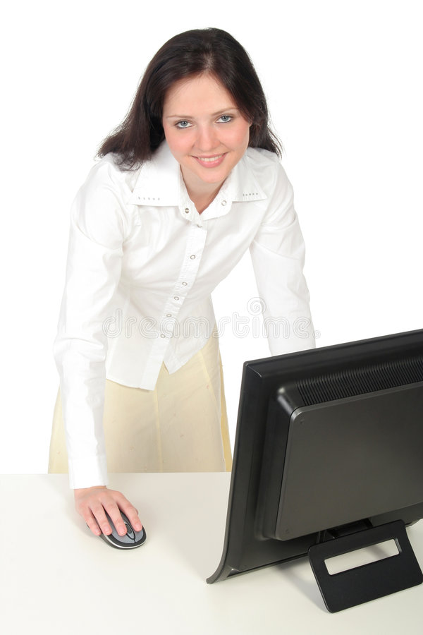 Female office worker stock photo