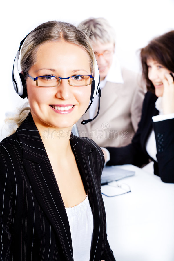 Download Female operator stock photo. Image of working, phone, support - 8306918