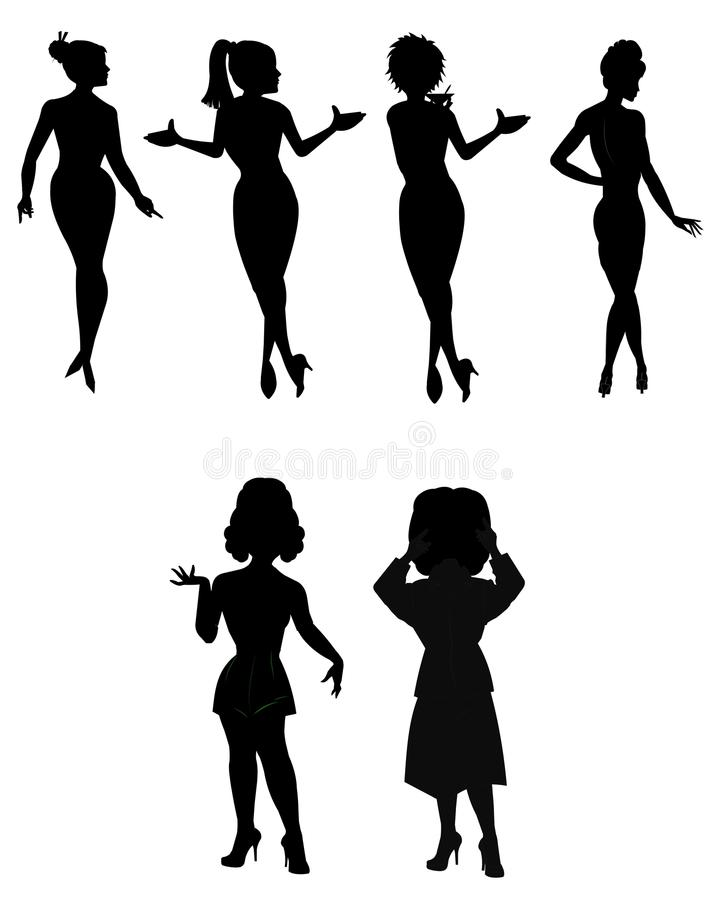 Female outlines royalty free illustration