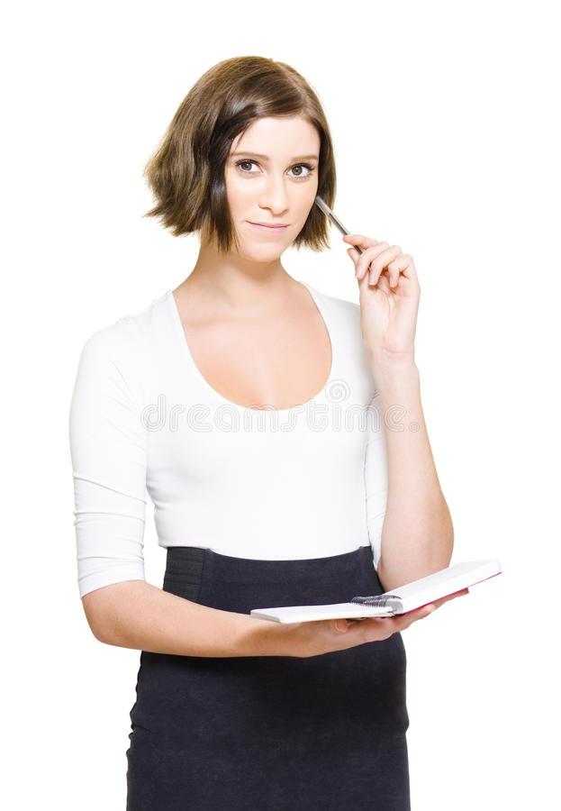 Download Female PA Penning Down Work Schedule In Diary Stock Image - Image: 24640199