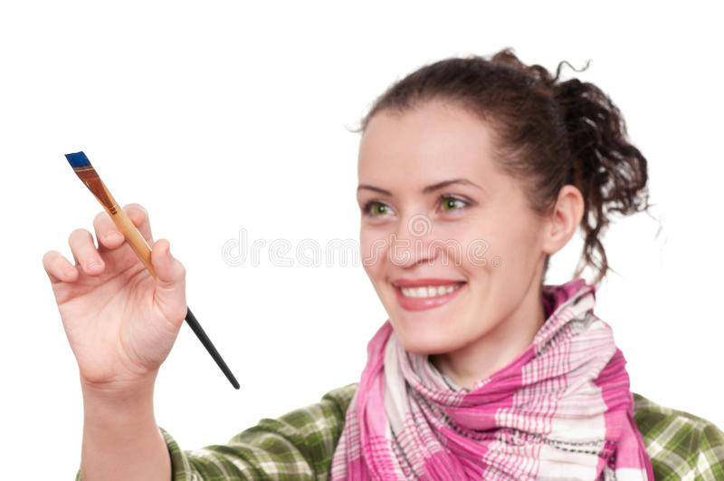 Female painter royalty free stock photo