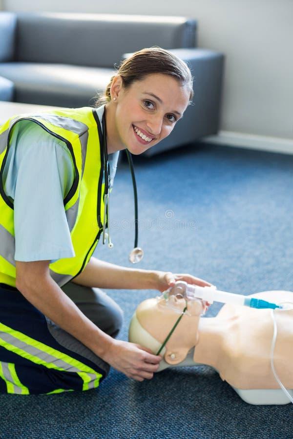 Download Female Paramedic During Cardiopulmonary Resuscitation Training Stock Image - Image of female, lifesaver: 77900205