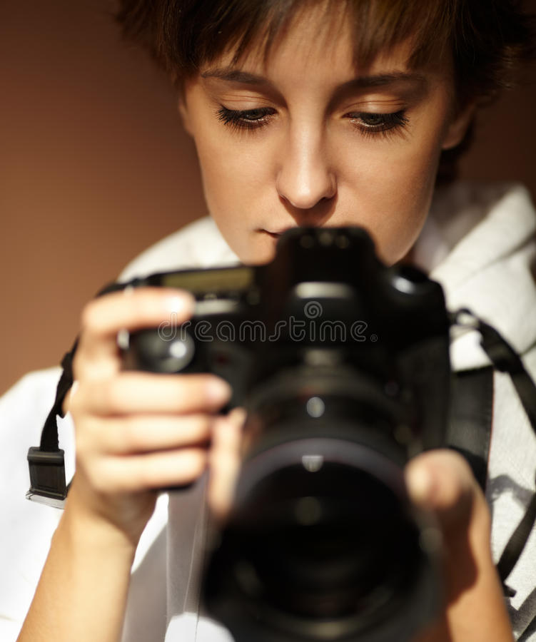 Download Female photographer stock image. Image of human, lens - 19224011