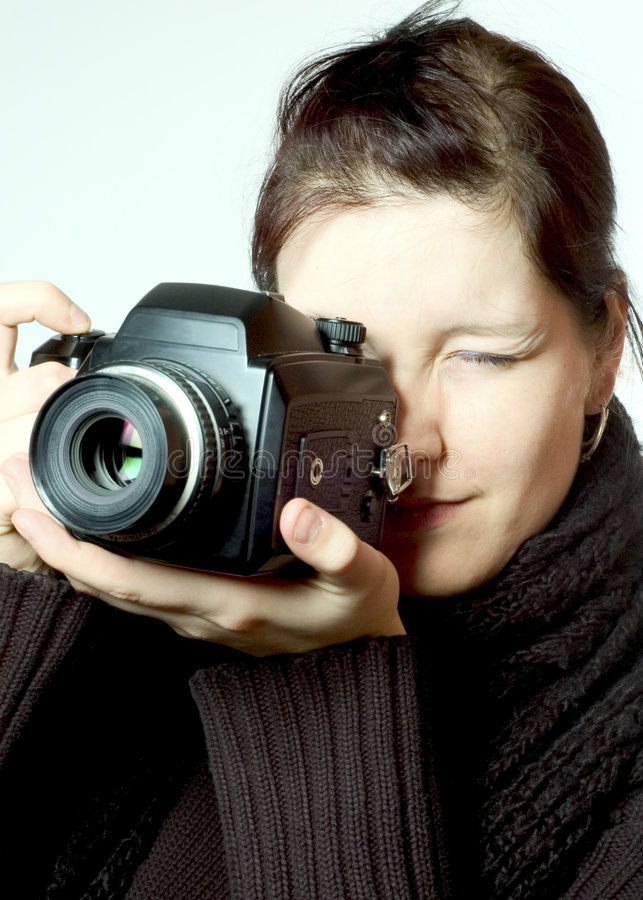Download Female photographer stock photo. Image of camera, looks - 511070