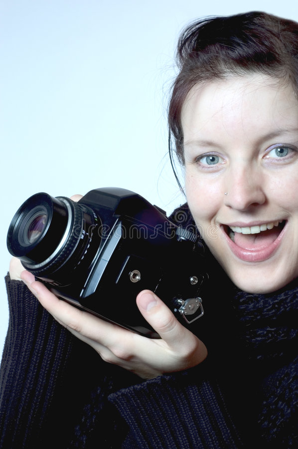 Download Female photographer stock image. Image of works, photographer - 515205