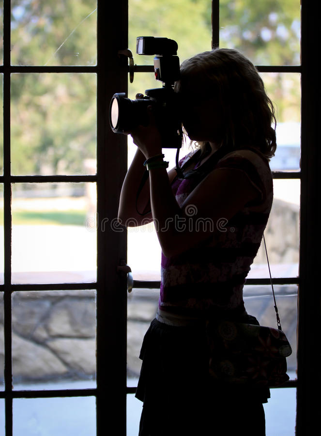 Download Female Photographer Silhouette Stock Photo - Image: 33107148