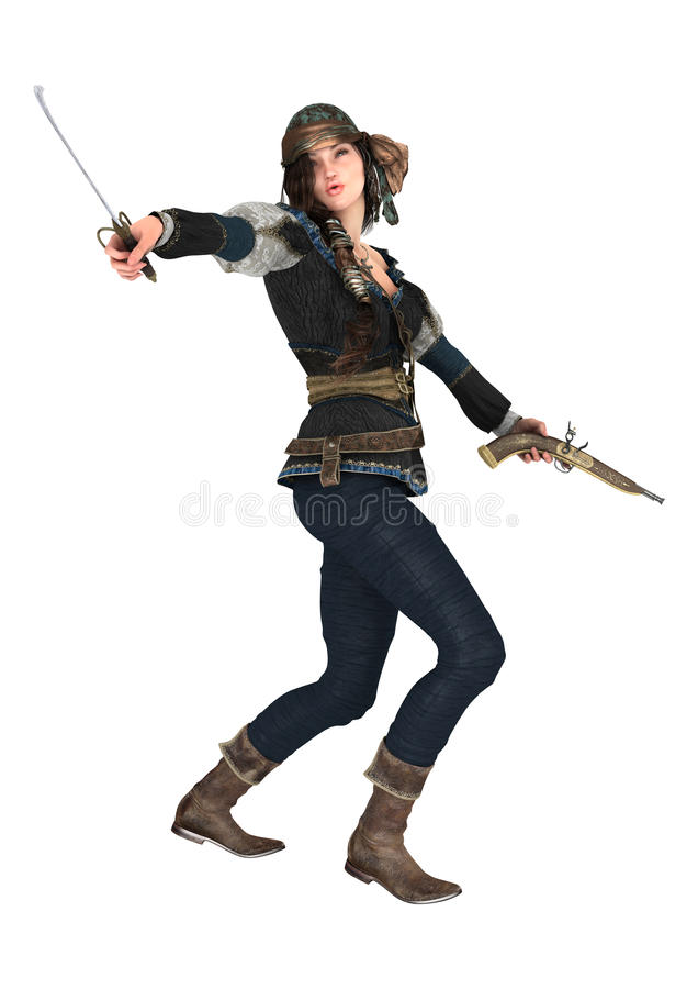 Female Pirate stock images