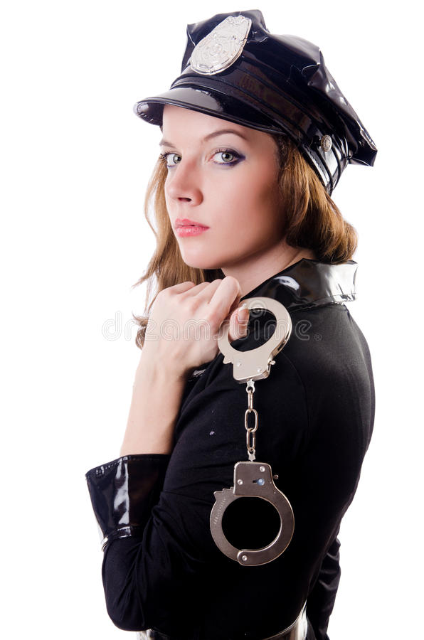 Download Female police isolated stock photo. Image of guard, hitting - 29057914