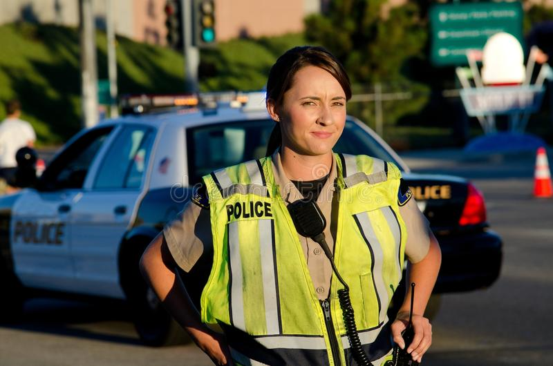Download Female police officer stock photo. Image of career, traffic - 26680266