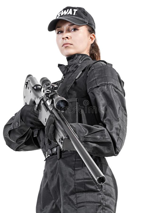 female police officer stock photo image of anti force