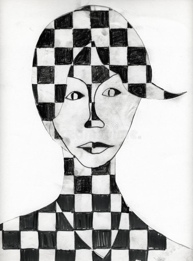 Female Portrait royalty free illustration
