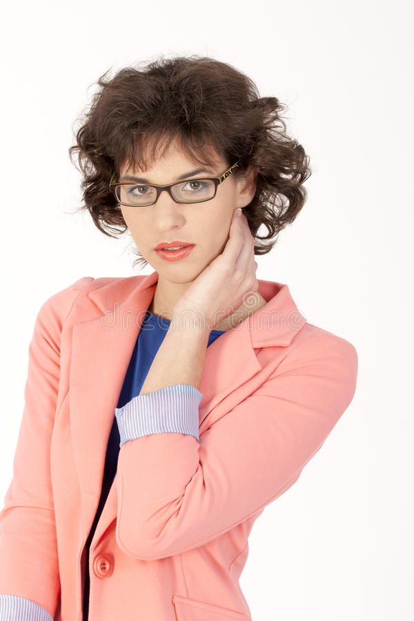 Download Female Portrait With Glasses Stock Image - Image of cute, beauty: 24150249
