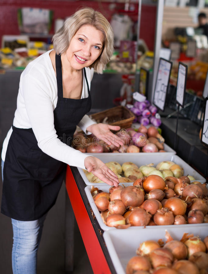 Female posing with vegetables royalty free stock photography