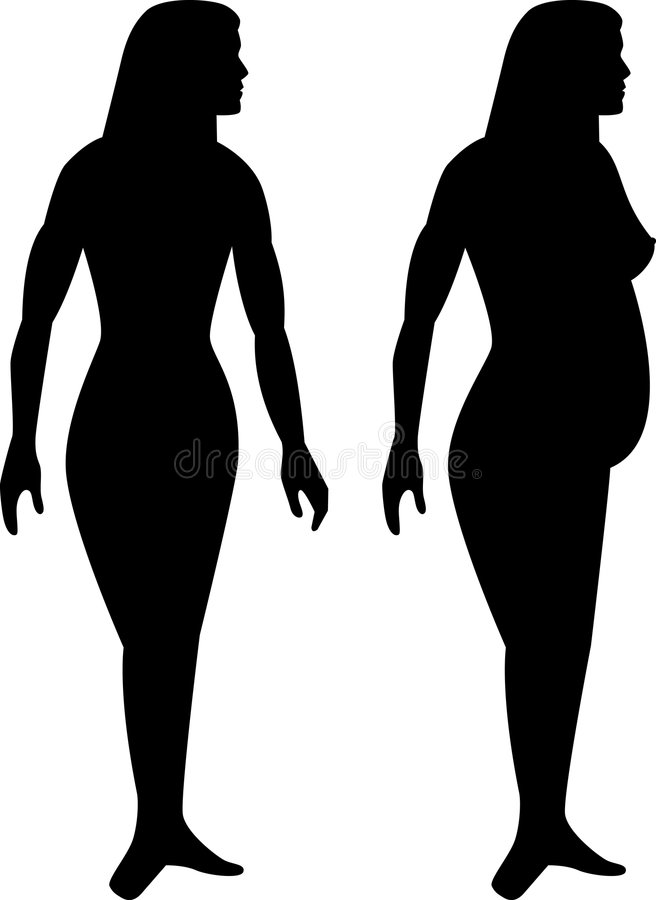 Download Female pregnant figure stock vector. Image of illustration - 7436680