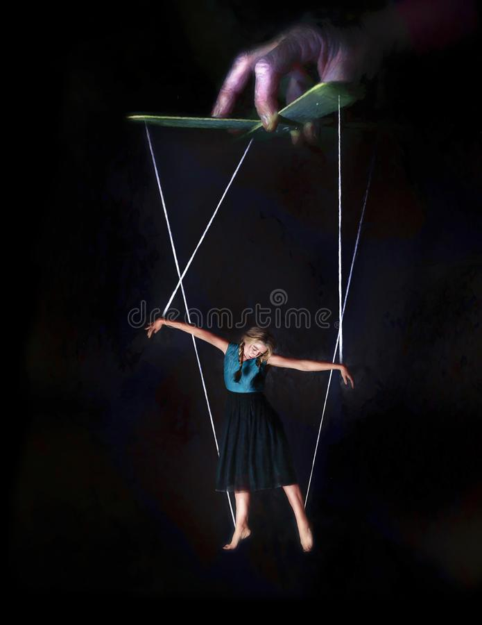 Female puppet stock image
