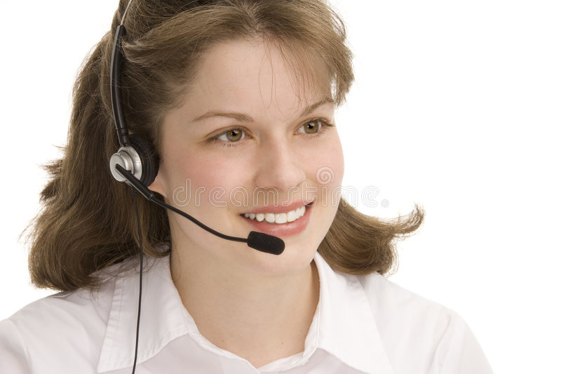 Female receptionist royalty free stock photos