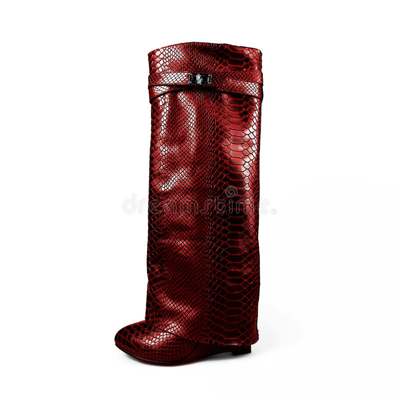 female red boots royalty free stock photos
