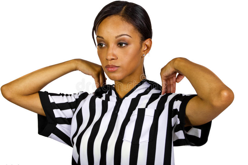 Female Referee Stock Photography