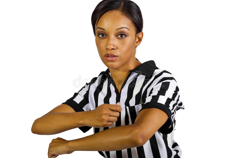 Download Female Referee stock image. Image of foul, gesture, african - 27065533
