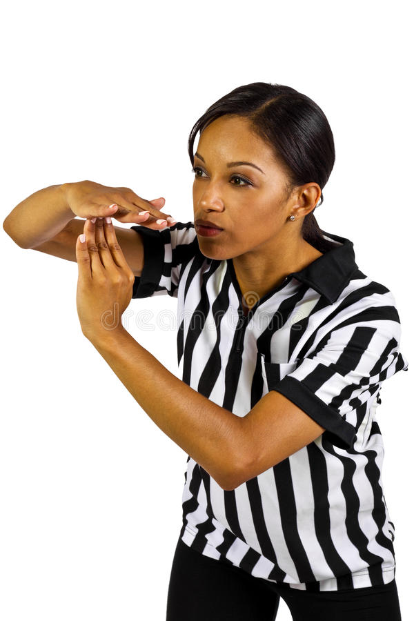 Download Female Referee stock photo. Image of break, person, gesture - 27065562