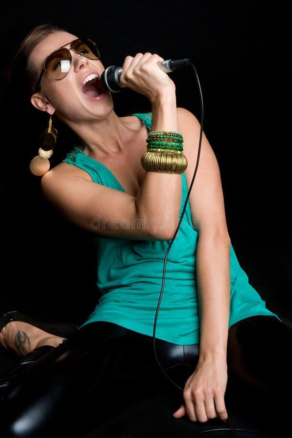 Download Female Rock Star stock photo. Image of black, woman, singing - 9700686