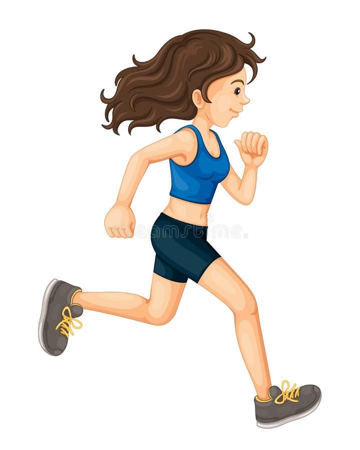 Female runner royalty free illustration