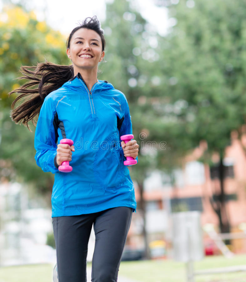 Download Female runner outdoors stock image. Image of beautiful - 33598217