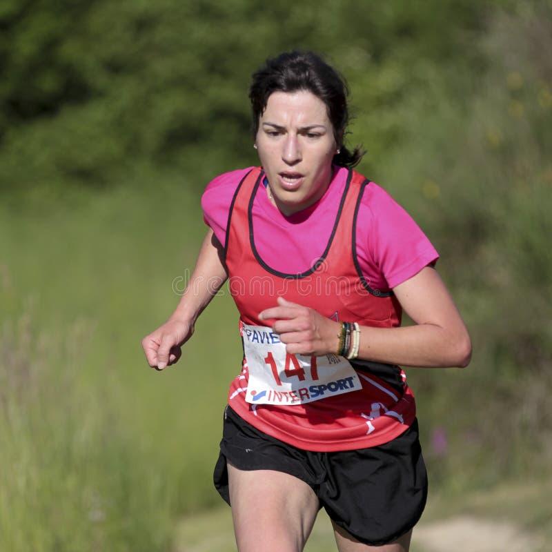 Female runner. stock image