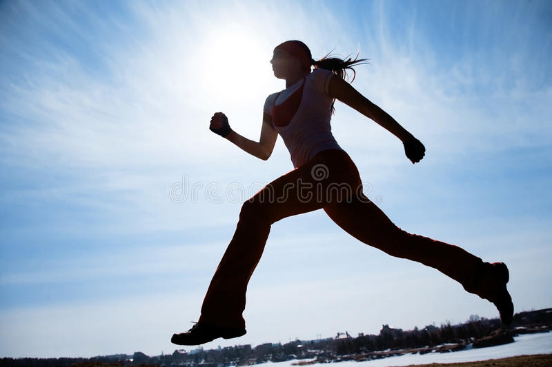 Runner royalty free stock photos