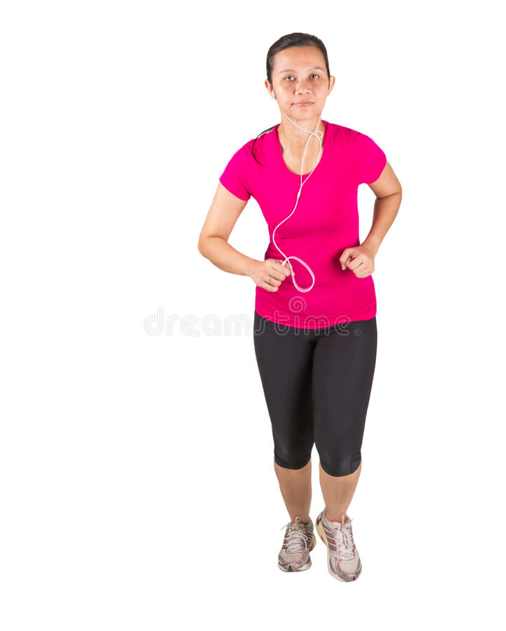 Download Female Running II Stock Image - Image: 35860261