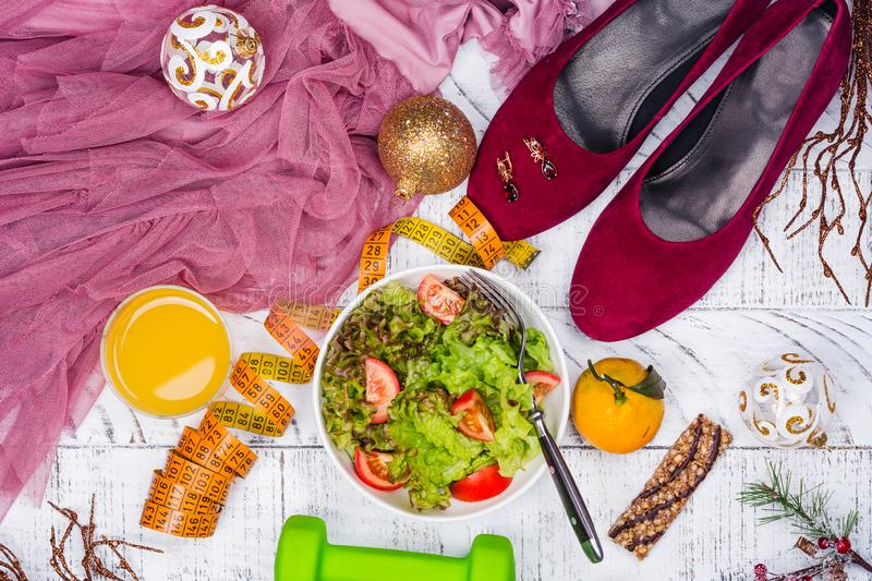 Before or after holidays diet royalty free stock photography