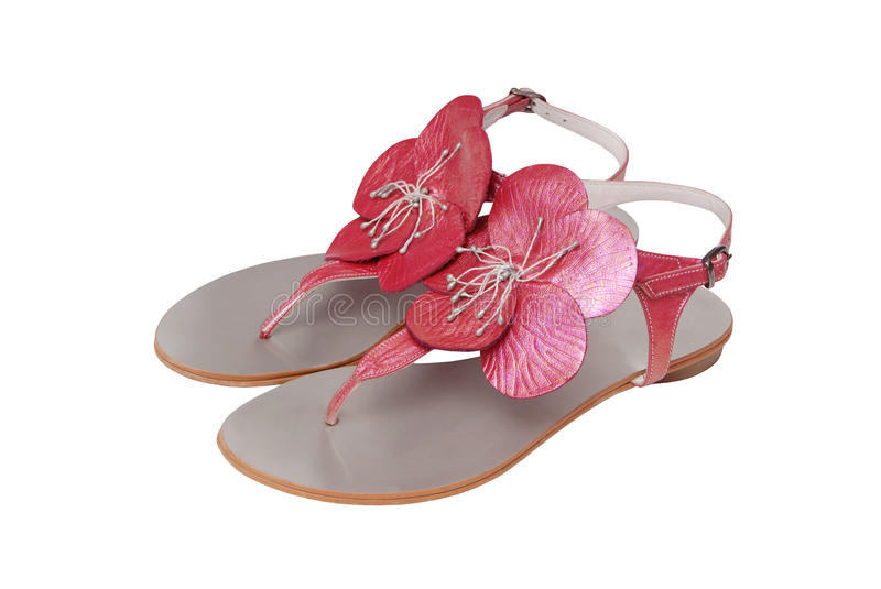 Female sandals royalty free stock images