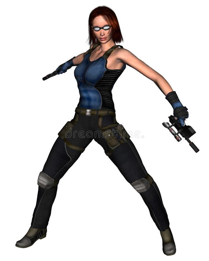 Download Female Sci-Fi Mercenary - 1 Stock Illustration - Image: 6264257