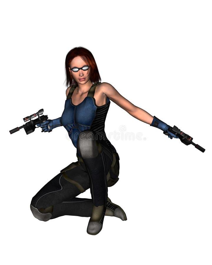 Free Female Sci-Fi Mercenary - 2 Stock Images - 6264264