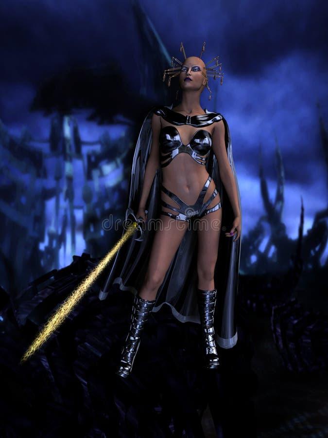 Female Sci Fi Warrior Stock Photography