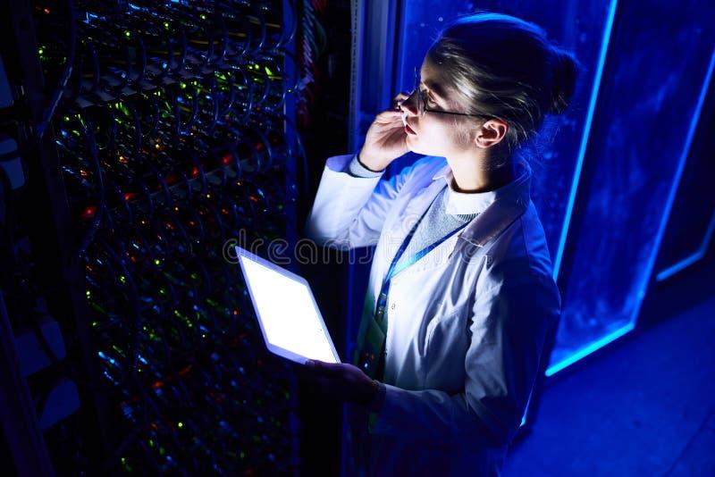 Female Scientist in Data Laboratory stock images