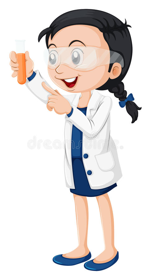 A female scientist stock vector. Illustration of chemicals ...