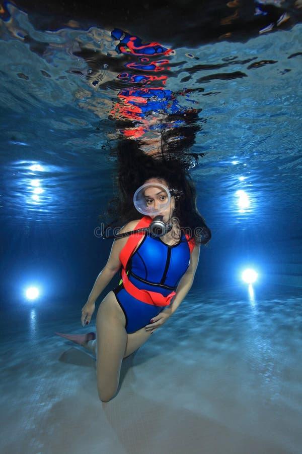 Female scuba diver royalty free stock photos