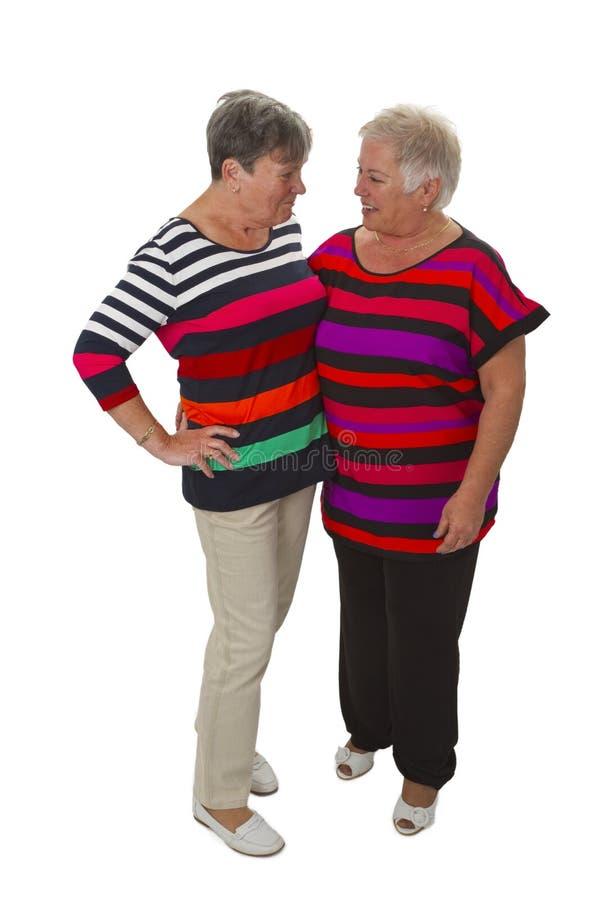 Female senior friends stock photo
