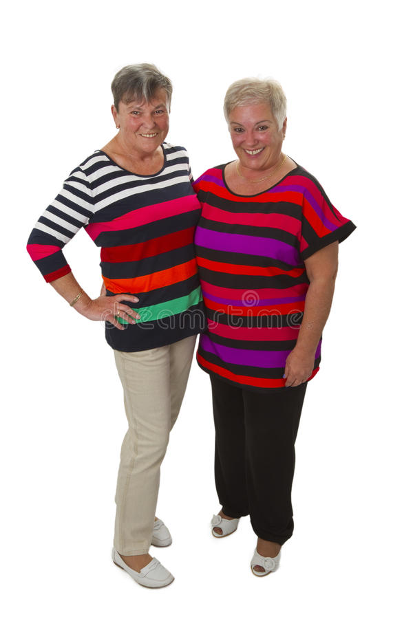 Female senior friends stock photography