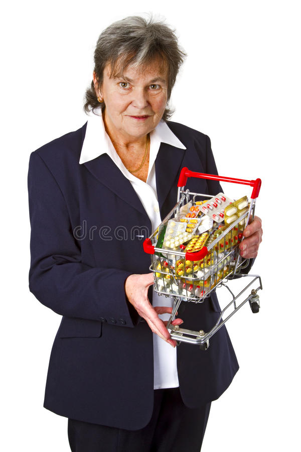 Download Female Senior With Pills Stock Photography - Image: 25246592