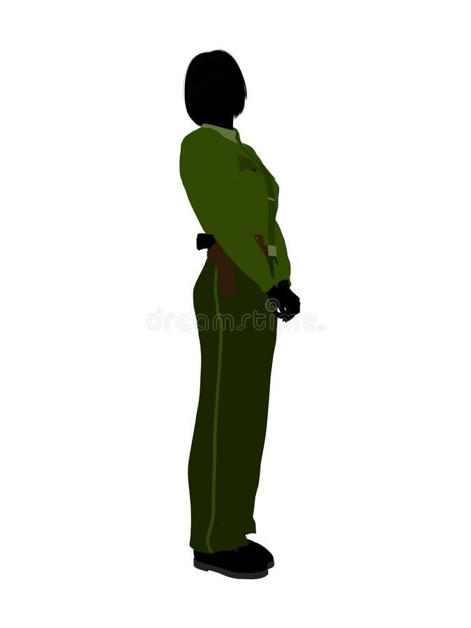 Female Sheriff Art Illustration Silhouette