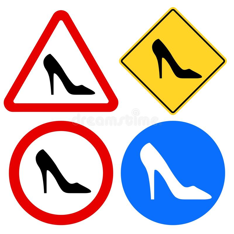 Download Female Shoe Signs Stock Image - Image: 14517951